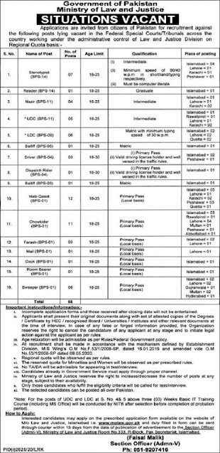 ministry-of-law-and-justice-molaw-jobs-2020-islamabad-application-form