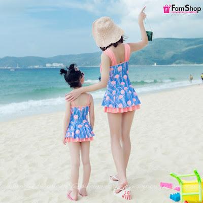 Váy maxi mẹ và bé gái M345