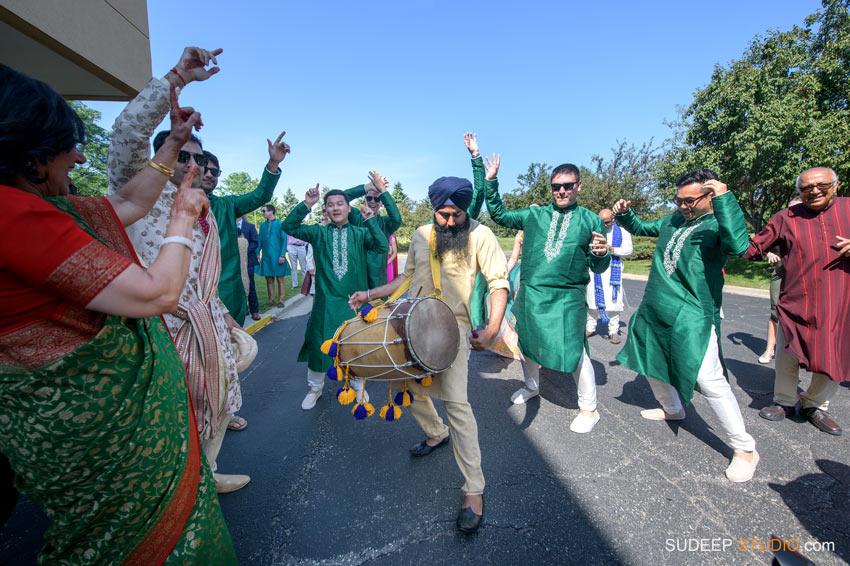 Indian Wedding Baraat Horse Barat Dhol Drum Dholak Dance SudeepStudio.com Ann Arbor South Asian Indian Wedding Photographer
