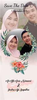 x banner wedding