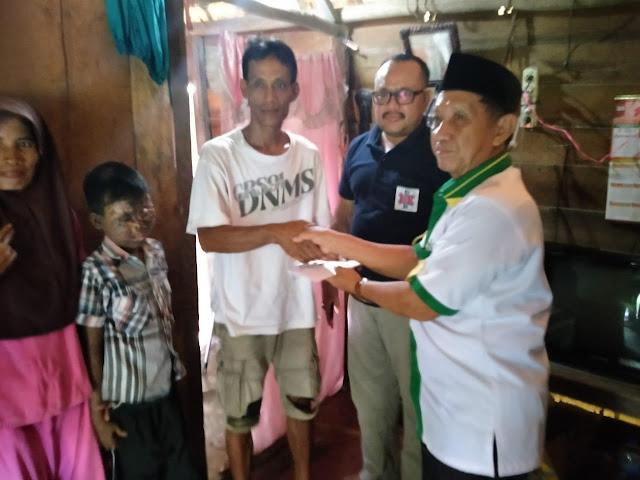 Pemkab OKI bersama Baznas Santuni Bocah Penyintas Tumor di Pedamaran
