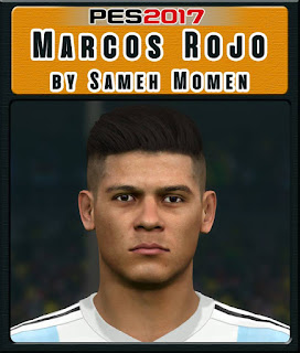 PES 2017 Faces Marcos Rojo by Sameh Momen