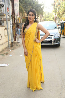 Regina Candra Stills in Yellow Saree at 92.7 BIG FM | ~ Bollywood and South Indian Cinema Actress Exclusive Picture Galleries