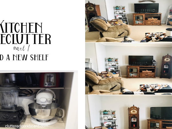 Kitchen Declutter (part 1) and a New Shelf