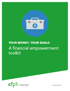Green cover of the your money your goals toolkit.