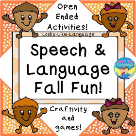 Speech and Language Fall Fun Open Ended Activities by Looks-Like-Language