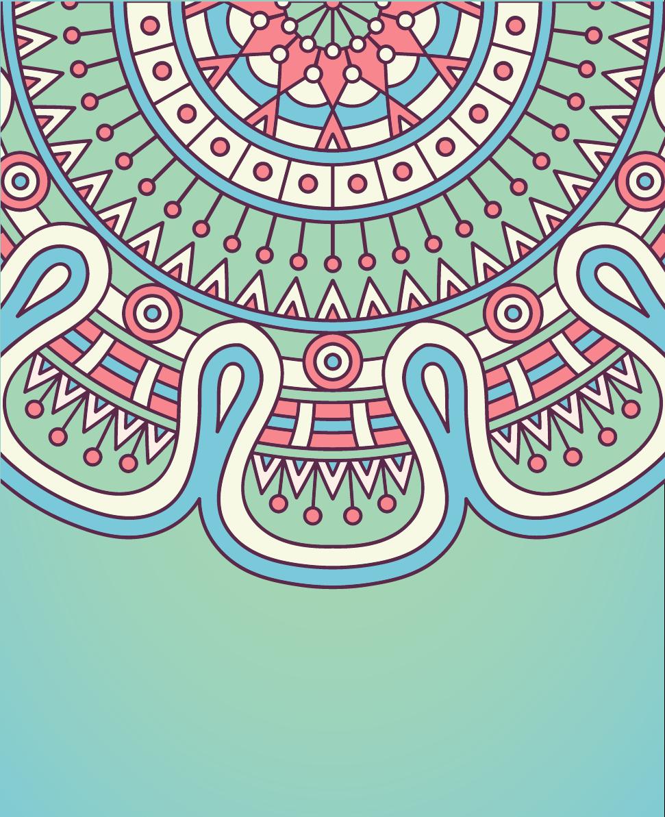 Mavi Tonlu Desen Vektör