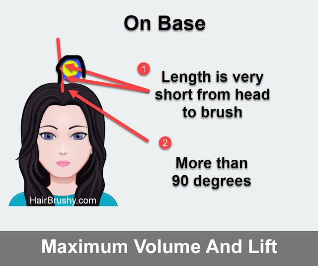 On Base technique to add more volume to your hair