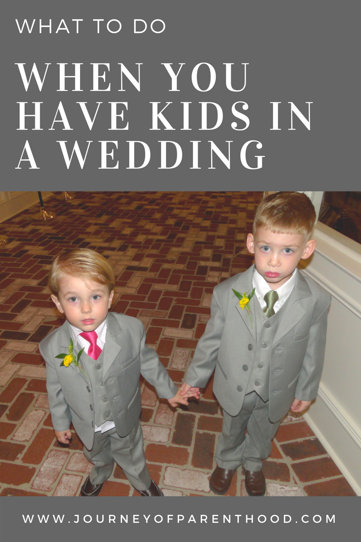 What to do When you have Kids in a Wedding {Guest Post}