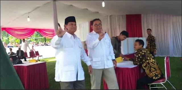Di TPS Prabowo: Jokowi-Maruf 6, Prabowo-Sandi 160