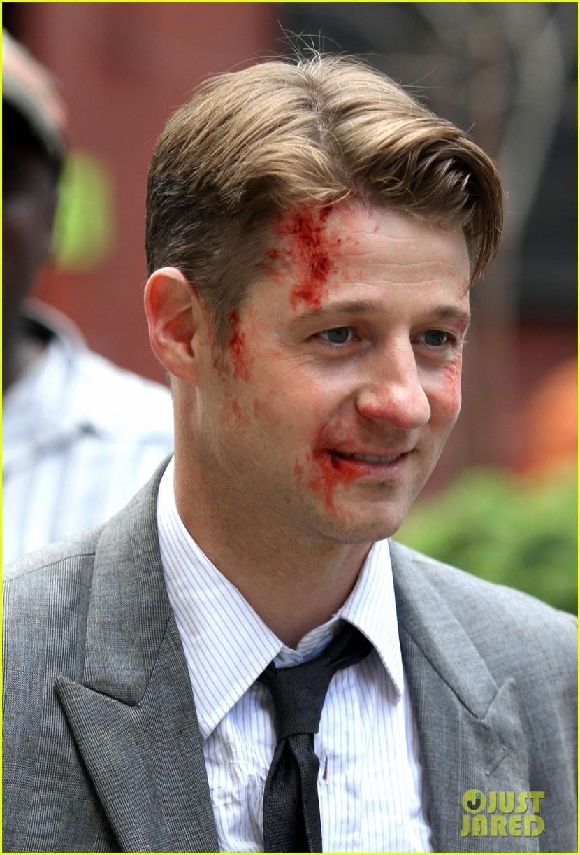 Gotham  Season 2  Set Photos of Ben McKenzie Erin