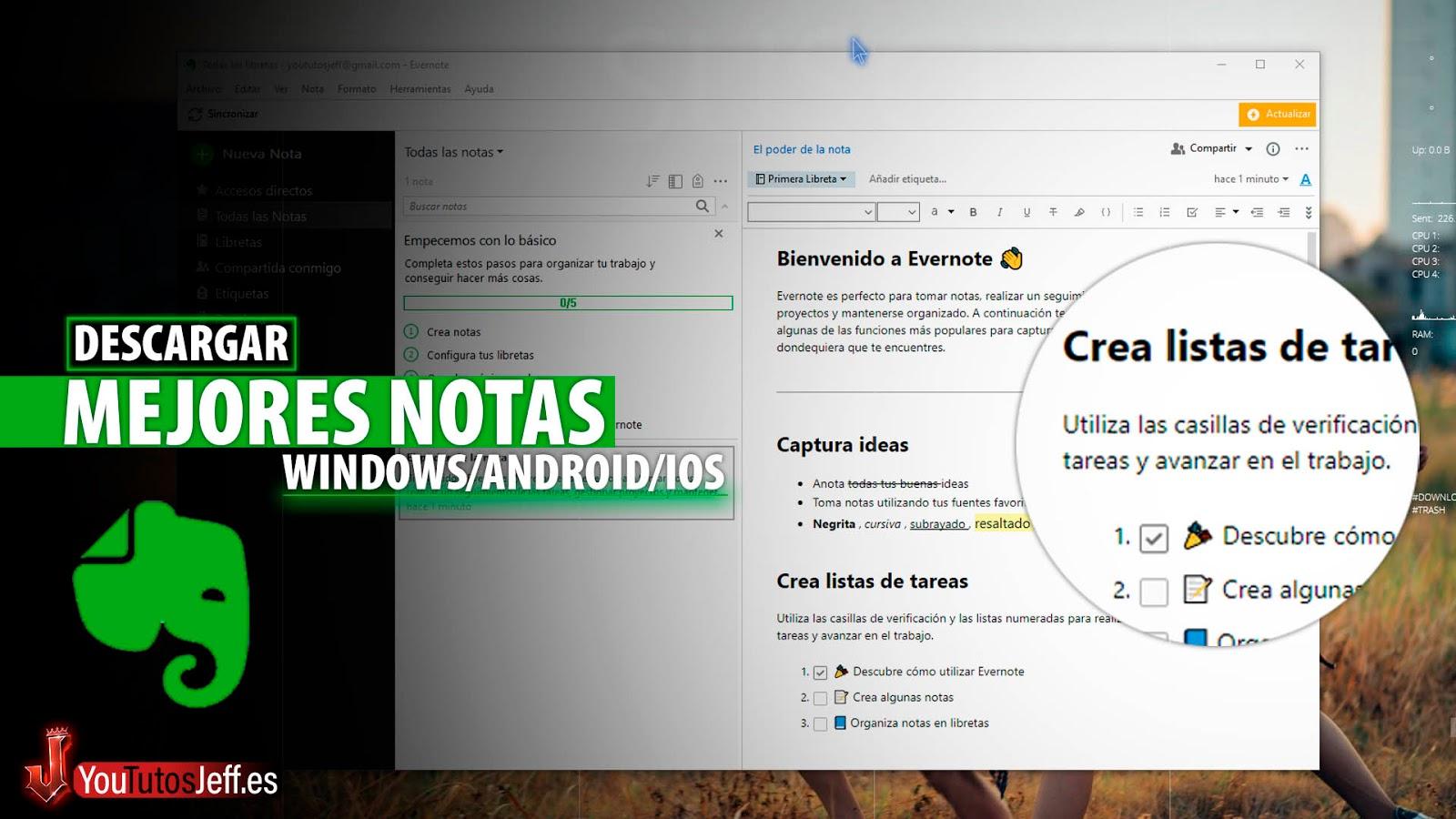 Editor de Texto, Descargar Evernote Ultima Versión para PC