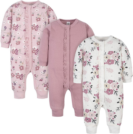 Floral Organic Cotton Preemie Baby Girl Clothes