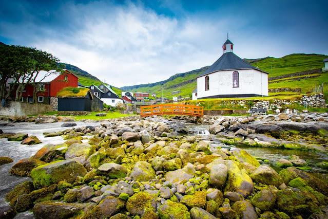Haldarsvík chiesa-Church-Kirkja