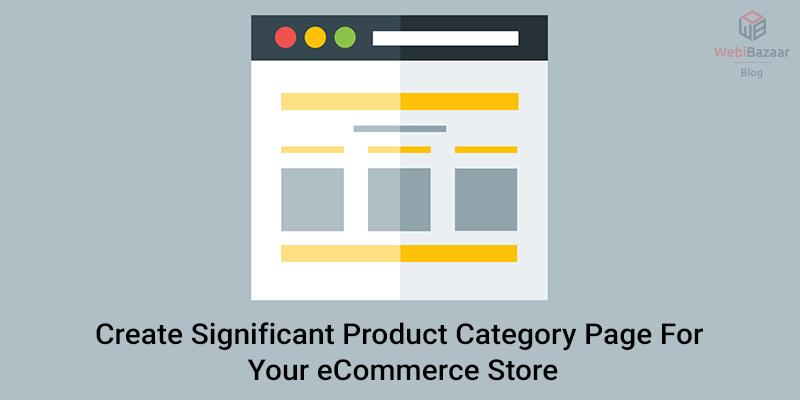 Create product category for ecommerce store.