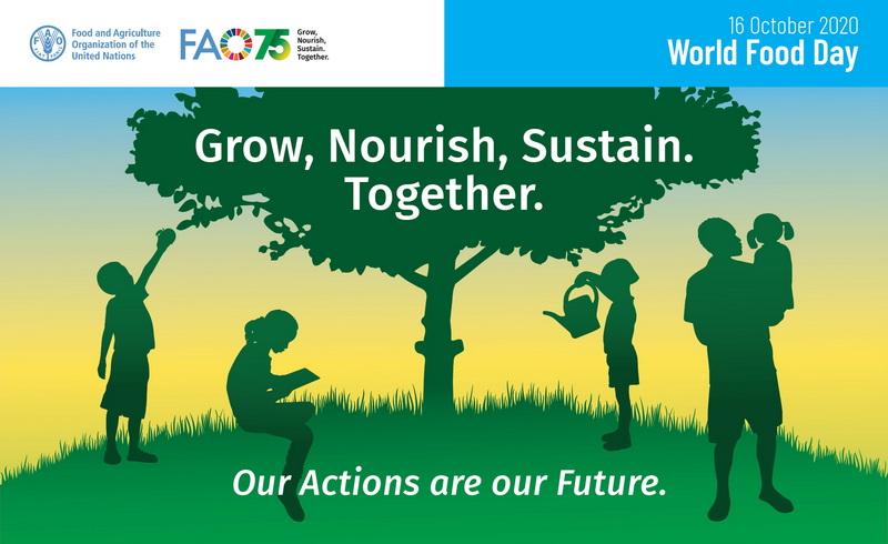 Παγκόσμια Ημέρα Διατροφής 2020: Οι πράξεις μας, είναι το μέλλον μας