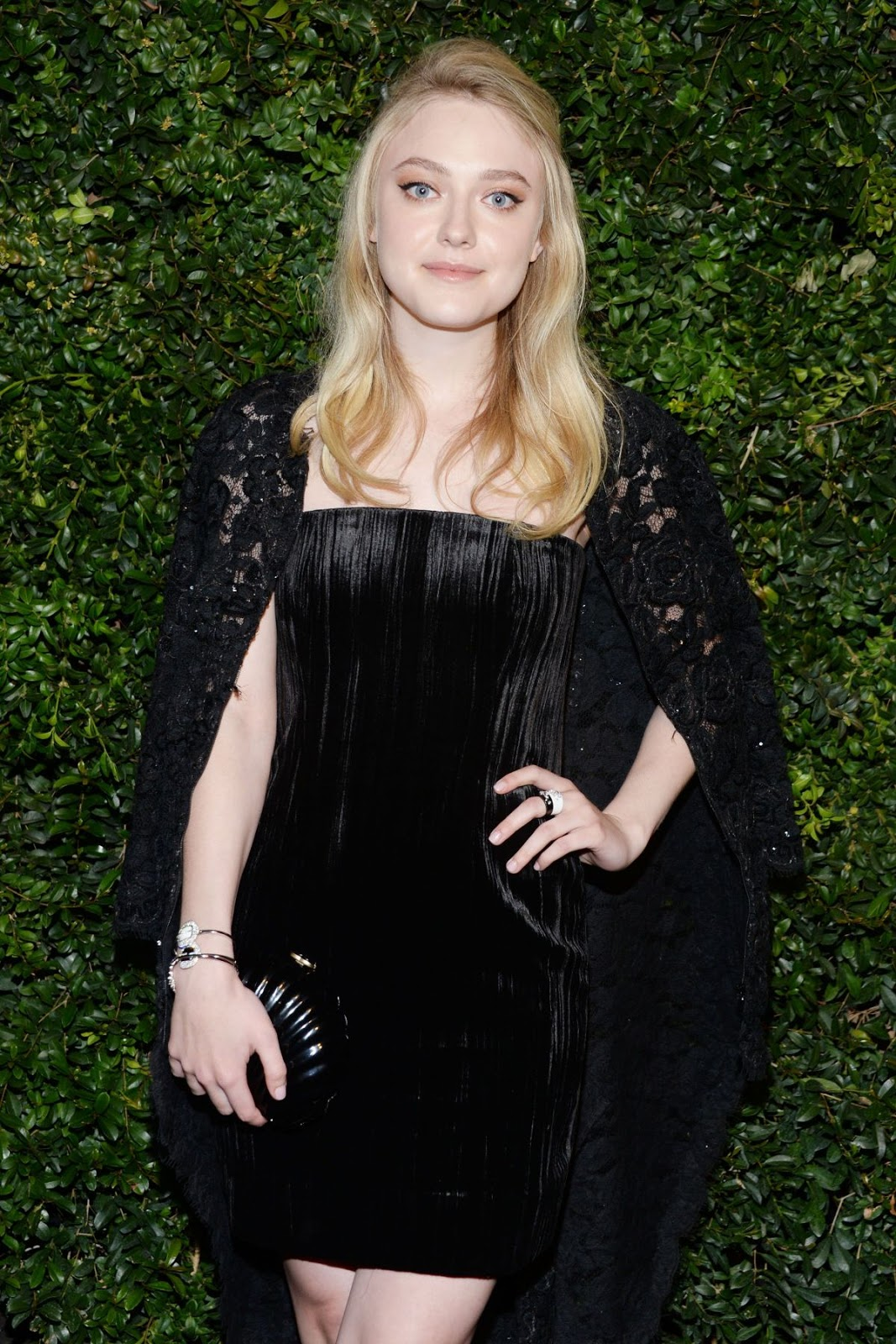 Brimstone actress Dakota Fanning at Chanel & Charles Finch Pre-Oscar Party 2016