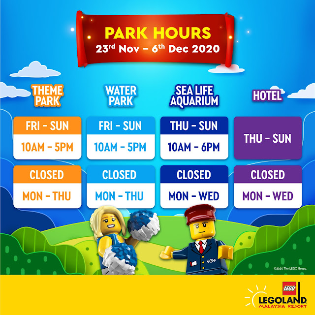 LEGOLAND Malaysia Resort will reopen from 26th November onwards