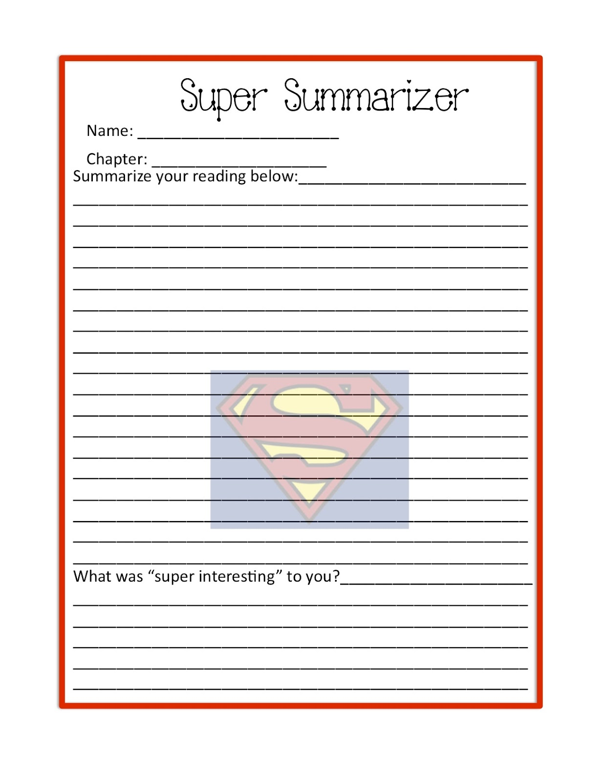 Teaching With Class 7 Literature Circle Job Worksheets