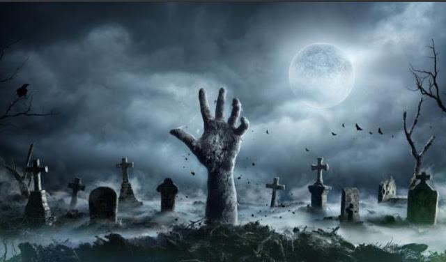 cara ampuh lihat hantu dengan tanah kuburan