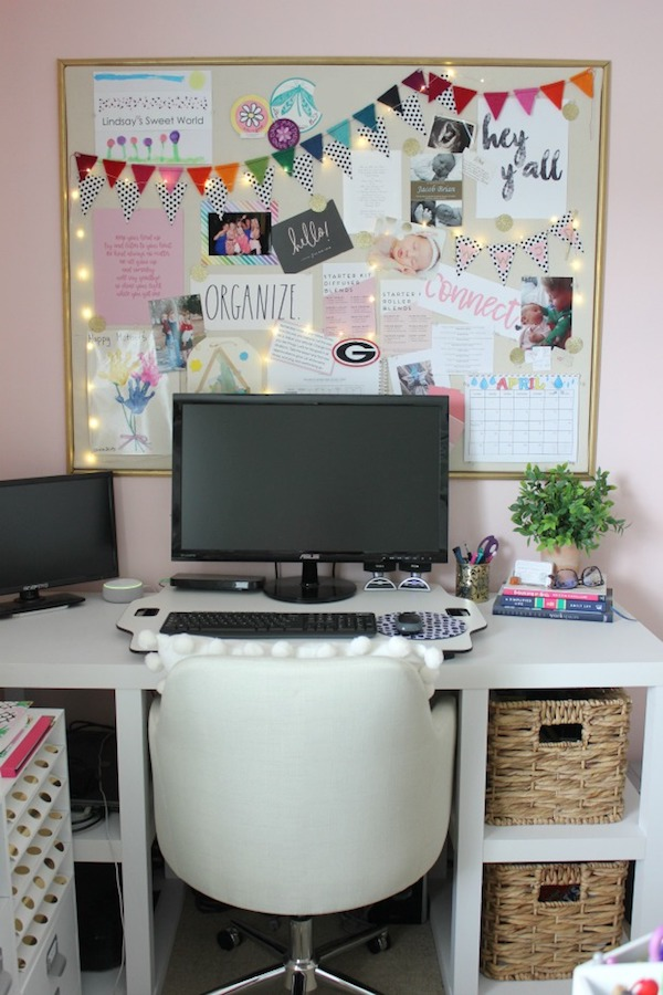 Easy DIY Gold Framed Bulletin Board