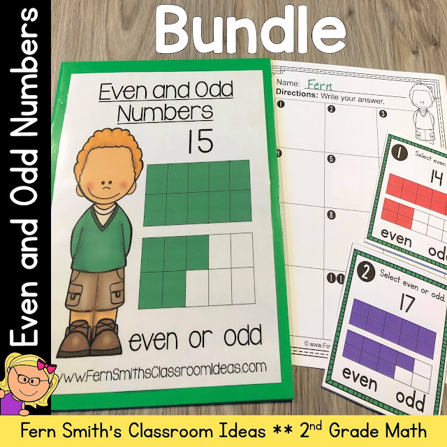 Second Grade Go Math 1.1 Even and Odd Numbers Bundle