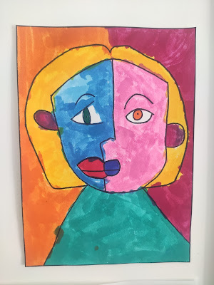 peinture picasso maternelle ief
