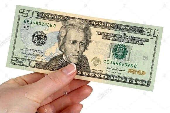 $20 USD