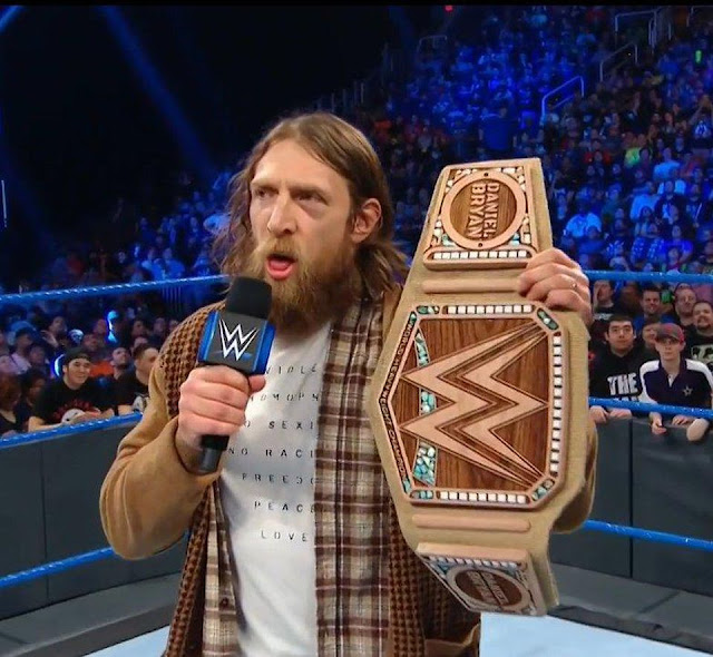 "'No Violence, no homophobia, no sexism, no racism, freedom, peace, love' shirt worn by Daniel Bryan on WWE Smackdown January 29, 2019 when ""The New"" Daniel Bryan presented his new vegan sustainable hemp-based WWE Championship title belt.  PYGOD.COM"