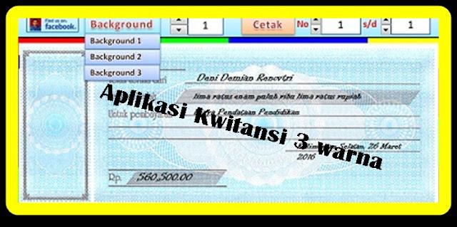 Download Aplikasi Cetak Kwitansi 3 Warna Terbaru