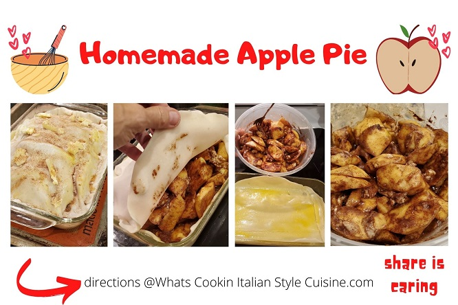 this is a collage of photos on how to make homemade apple pie
