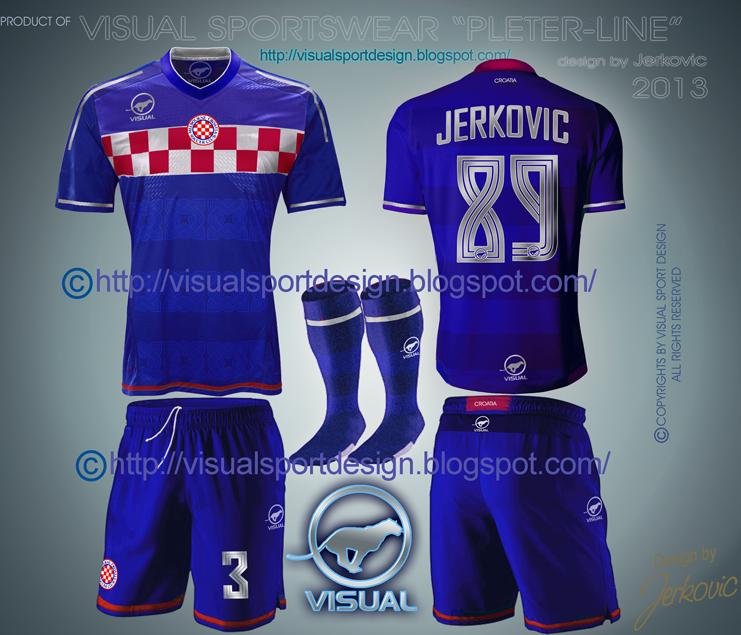 7f91eb122 Visual Football Fantasy Kit Design: CROATIA HNS Away