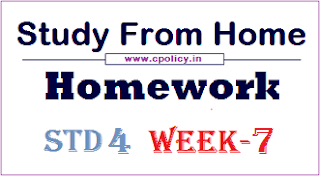 std 4 Study From Homework week 7 pdf Download