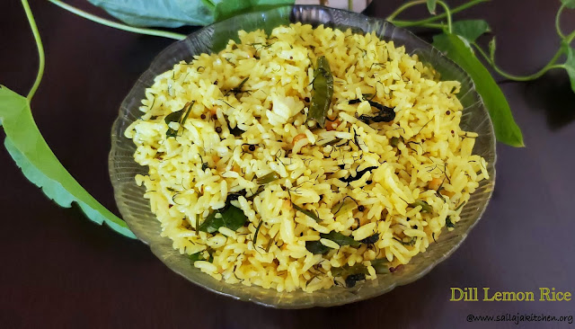 images of Dill Lemon Rice / Lemon Dill Rice / Dill Rice / Dill Lemon Chitranna