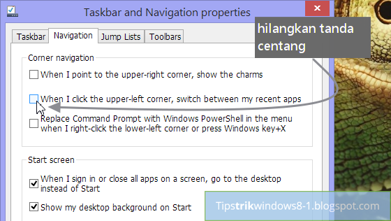 cara menghilangkan apps switcher di windows 8.1