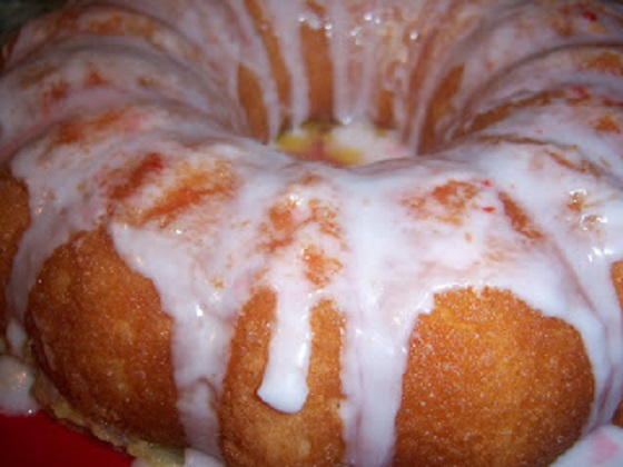 this is a bundt cake made from scratch