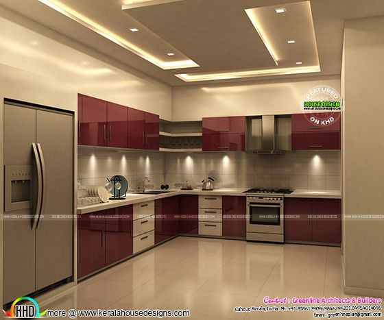 Awesome kitchen interior in Kerala