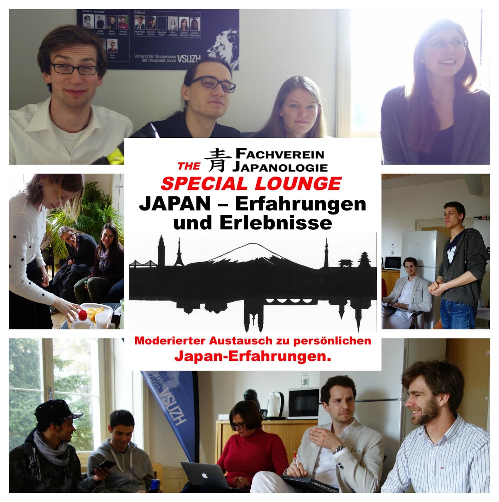 Fachverein Japanologie UZH: Special Lounge «Japan – Erfahrungen und ...