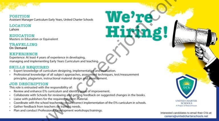 careers@unitedcharterschools.net - United Charter Schools Jobs 2021 in Pakistan
