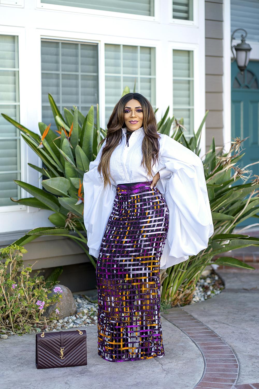 Caged Ankara Skirt
