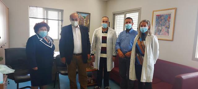 Επίσκεψη στο Γ.Ν. Αργολίδας του Πρόεδρου του Εθνικού Κέντρου Αιμοδοσίας