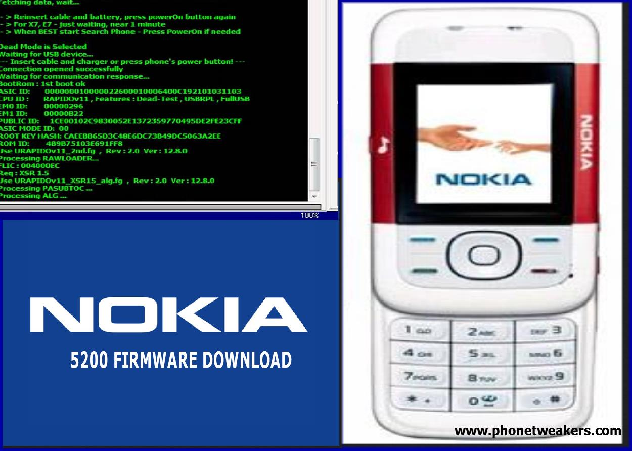 Nokia 5200 software update version.