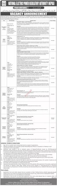 National Electric Power Regulatory Authority Jobs 2021 || NEPRA Jobs 2021