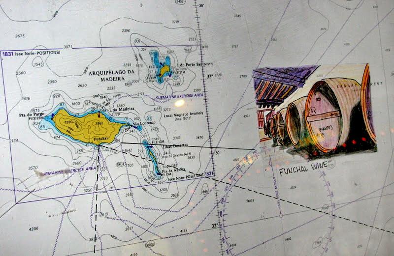 Madeira wine on map