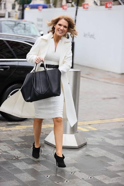 Charlotte Hawkins – Seen arriving at Global Studios in London