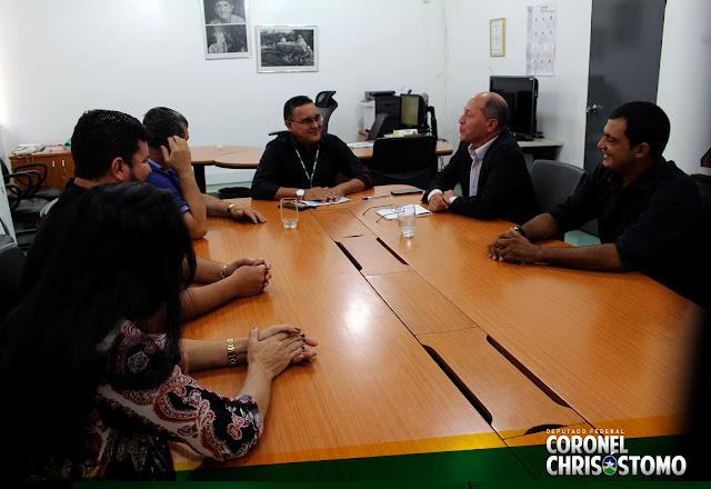 Deputado Chrisostomo busca apoio junto ao INCRA para produtores rurais de Pimenteiras D'Oeste