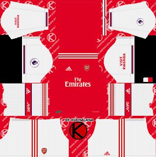 Arsenal 2019/2020 Kit - Dream League Soccer Kits