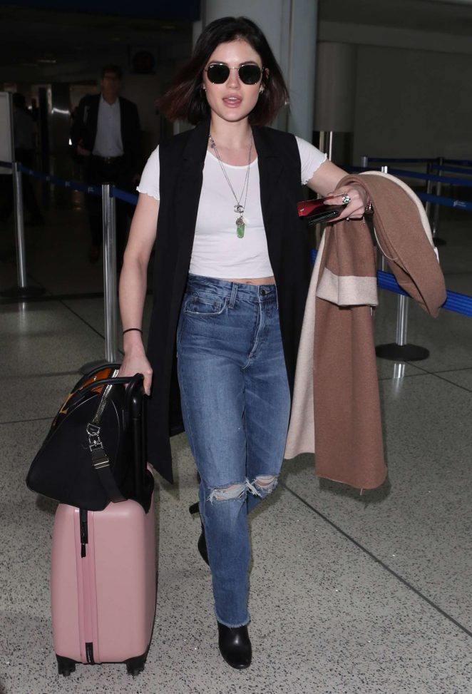 Lucy Hale Looks Hot in Denim Jeans