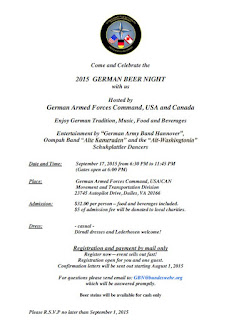2015 German Beer Night Letter