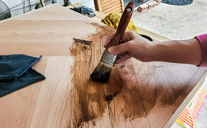 staining with wax